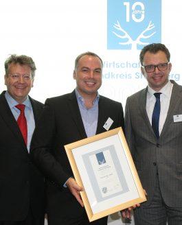 """Wirtschaftspreis Landkreis Starnberg 2016 – """"Gelebte Verantwortung und unternehmerisches Engagement"""" lautete das Motto für 2016."""