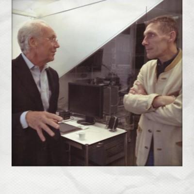 Prof. Jorgen Rander und Alexander Rossner im Studio bei FIELD OF VIEW in München